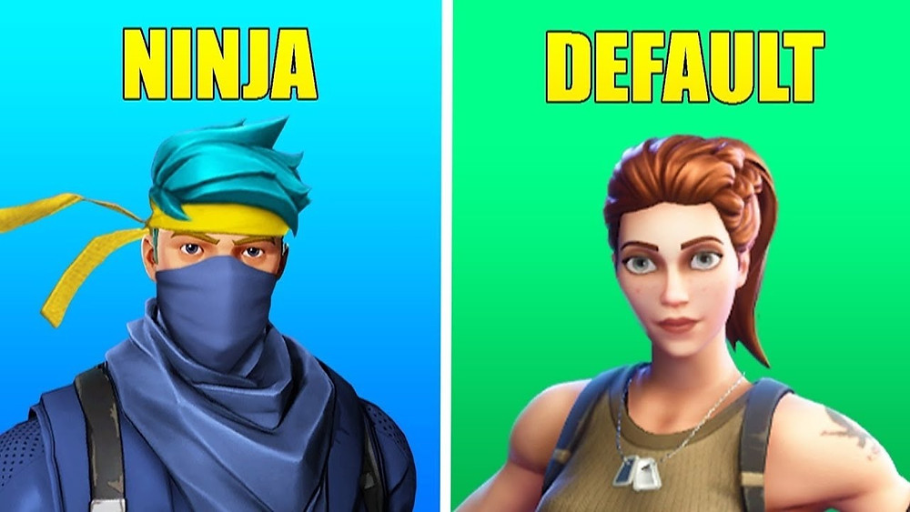 gaming skin vs default skin