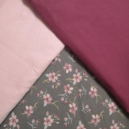 Kirschblüten grau 1