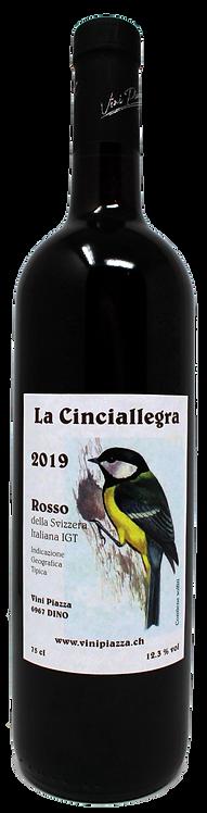 """Rosso della Svizzera italiana IGT """"La Cinciallegra"""" 2019 - Vini Piazza"""