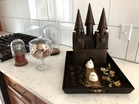 Sweet Spells Sunday: Cocoa Molasses Haunted Castle with Meringue Ghosts
