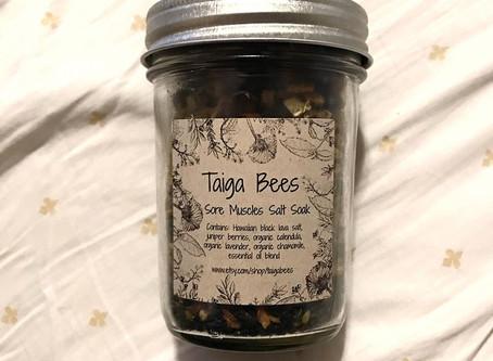 Medicinal Monday: Taiga Bees Sore Muscles Salt Soak