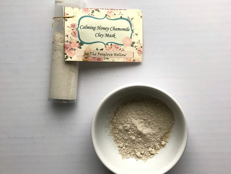 Medicinal Monday: Calming Honey Chamomile Clay Mask from The Foxglove Hollow
