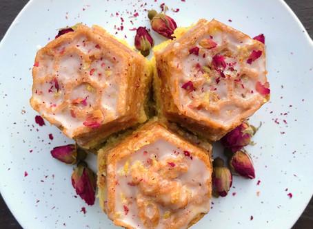 Kitchen Witch Wednesday: Honey Rose Lemon Cakes