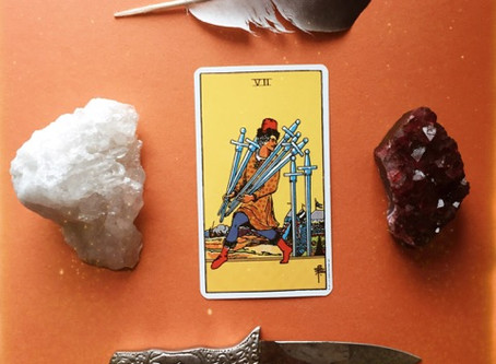 First Tarot Tuesday: VII of Swords