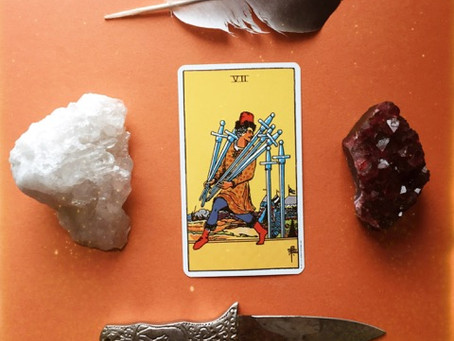 First Tarot Tuesday: VII of Swords