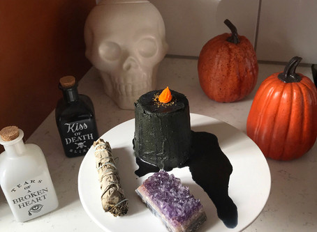 Kitchen Witch Wednesday: Devil's Food Candle Magic Cake with Rosemary Buttercream and Elderberry