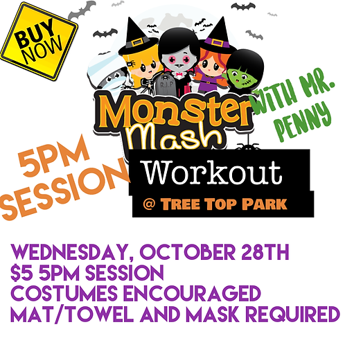 5pm Session: Monster Mash Workout with Mr. Penny