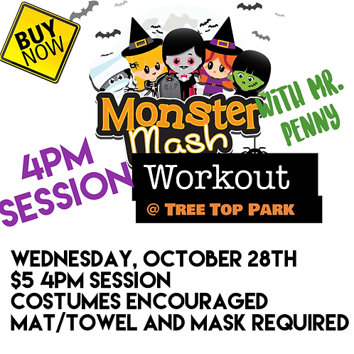 4pm Session: Monster Mash Workout with Mr. Penny