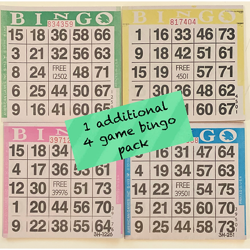 Bingo Pack: A La Carte and/or Add On