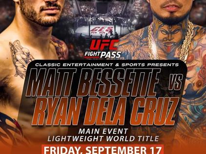 CES 64 Preview: Bessette vs. Dela Cruz Lightweight Title; Smith vs. Perrin Bantamweight Title