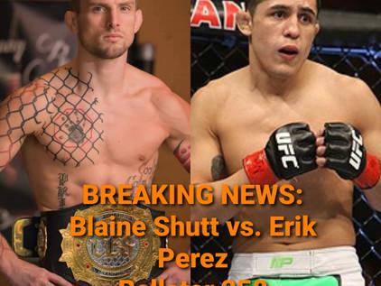 Breaking: CES Champion Shutt to Make Bellator MMA debut at Bellator 258 against UFC Vet Perez
