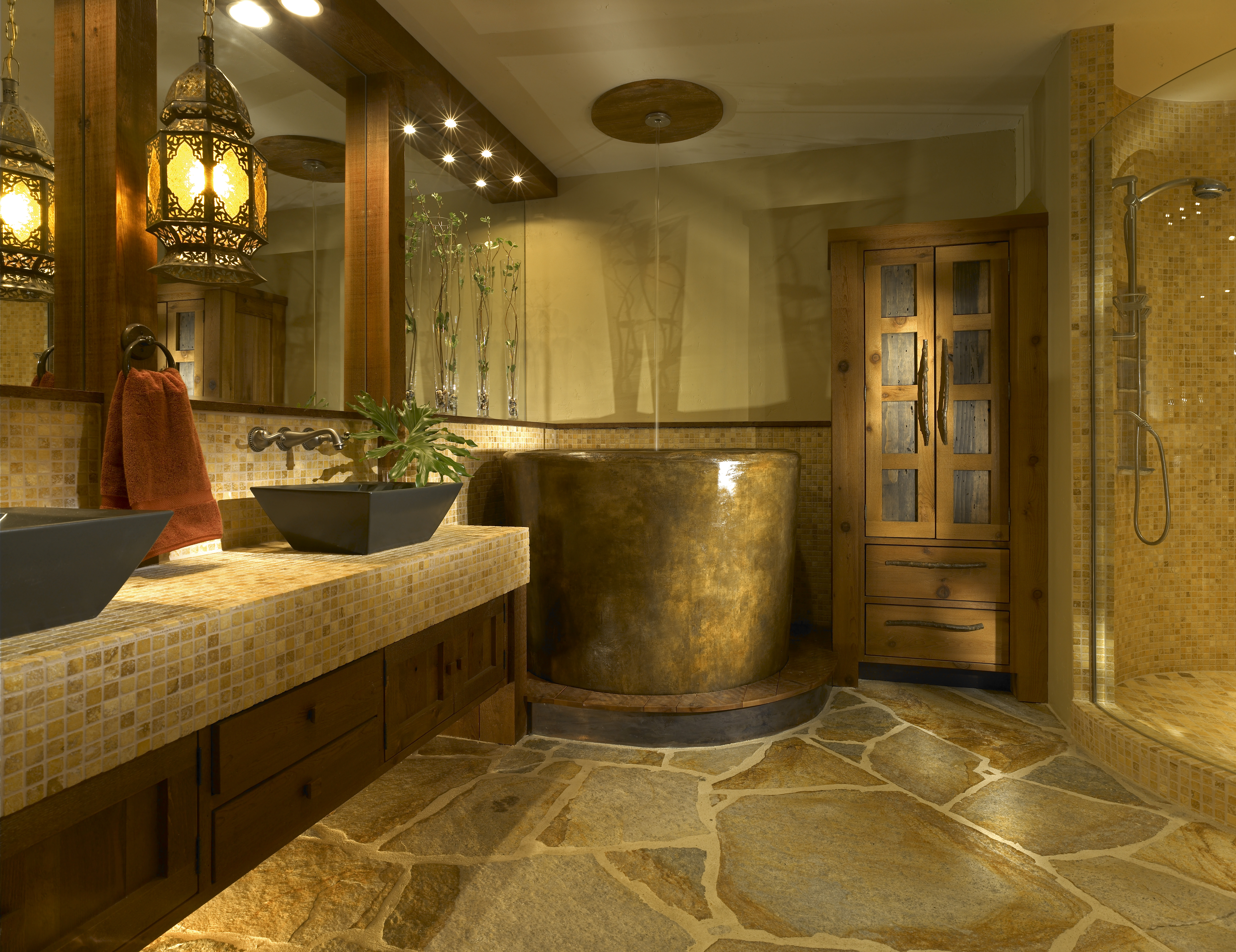 interior-ideas-stunning-small-luxury-bathrooms-by-black-washstand-on-the-cream-tile-base-having-draw
