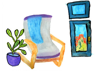 Non-rocking chair