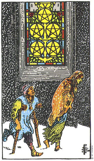 Dogged by the 5 of pentacles