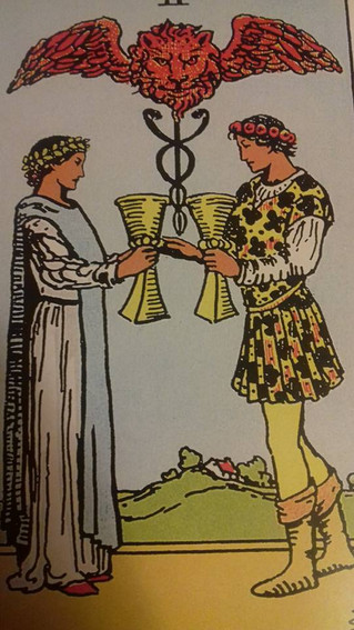 The secret warning...in the 2 of cups