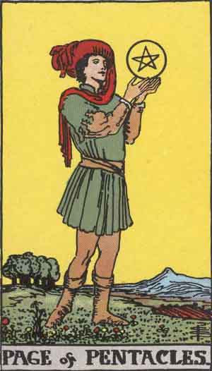 Lessons learnt from the Page of Pentacles