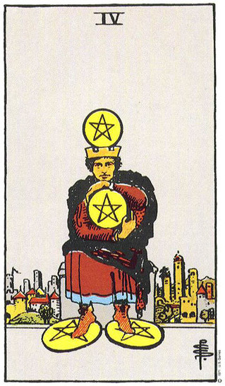 The 4 of pentacles- a lesson in ebb & flow