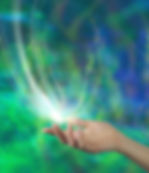 Spirit Release - Female open hand with a