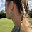 Thumbnail: Bee Earings - Gold and Turquoise