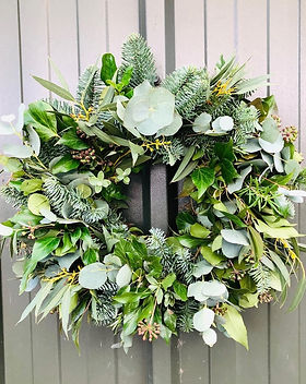 Christmas wreaths Ashbourne