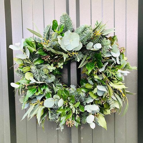 DIY kit Christmas Wreath - Freash Foliage