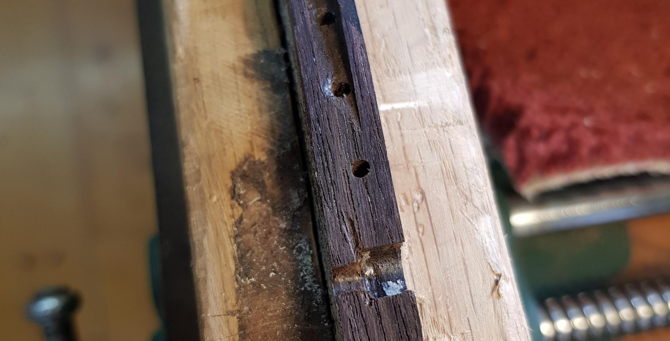 Damaged Guitar Bridge