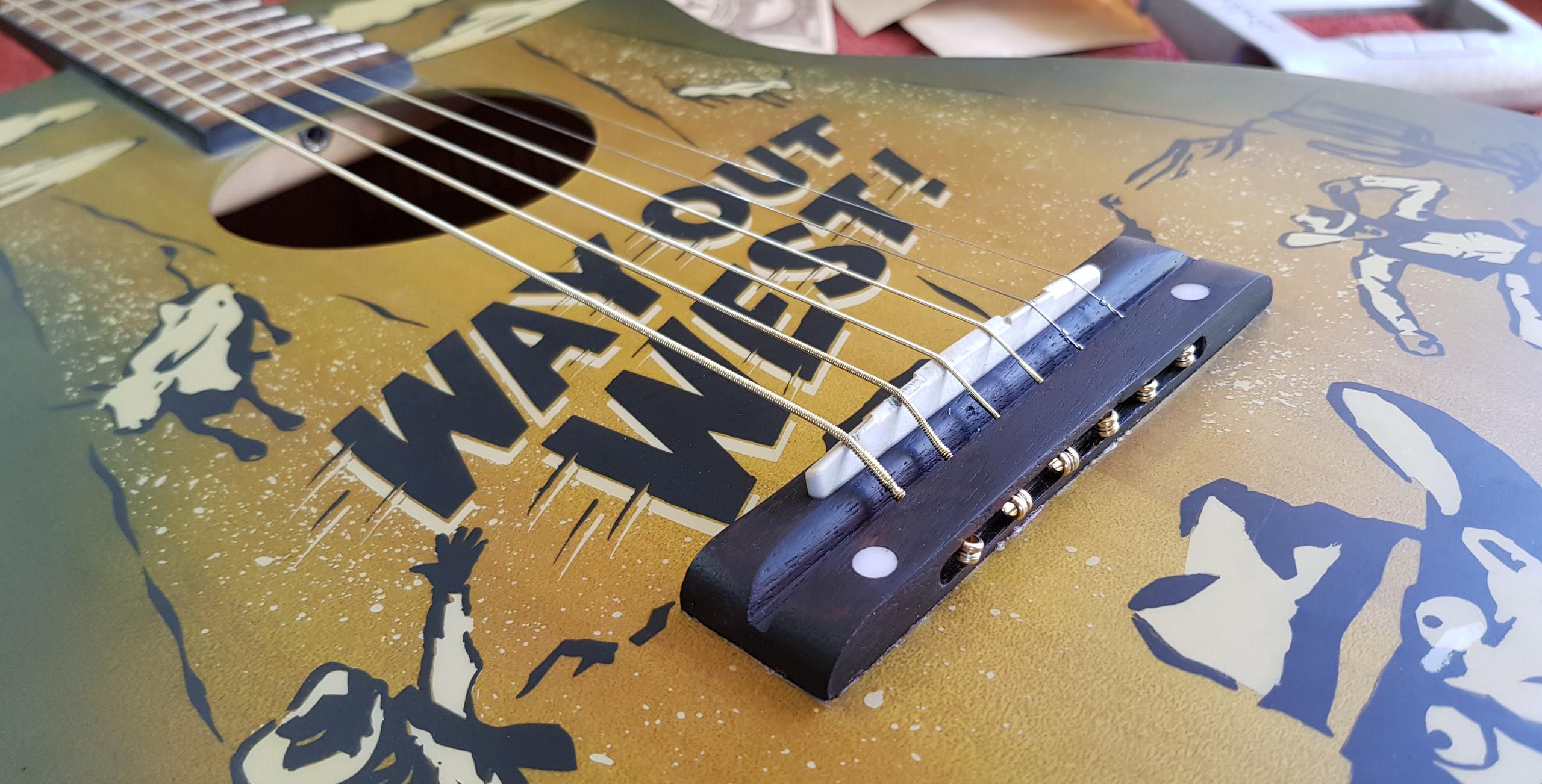 Finished Acoustic Guitar Bridge Repair