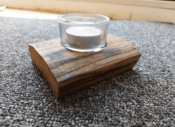 Whisky Barrel Stave Single Tea Light Holder