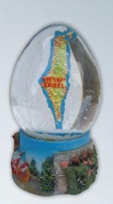 Israel Map Snow Globe
