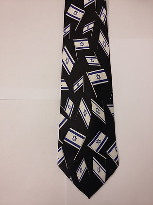 Tie with Israeli Flags