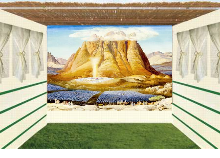 Succa Wall -The Tabernacle at the Base of Mount Sinai