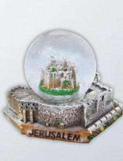 Jerusalem Citadel Snow Globe