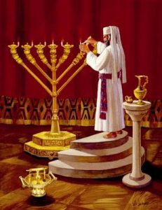 Menorah with Straight Branches 36 Piece Jigsaw Puzzle
