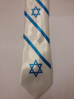 White Flag of Israel Tie