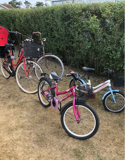 Cyklar som finns i stugan ny