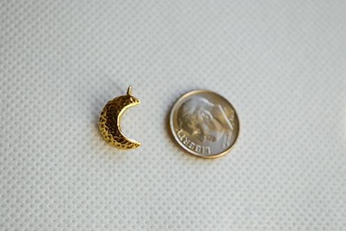 Gold Tone Moon Charm
