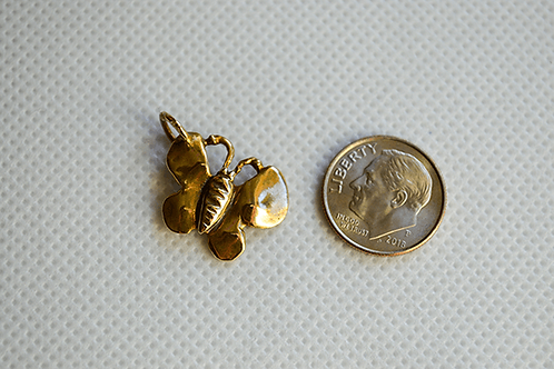 Gold Tone Butterfly
