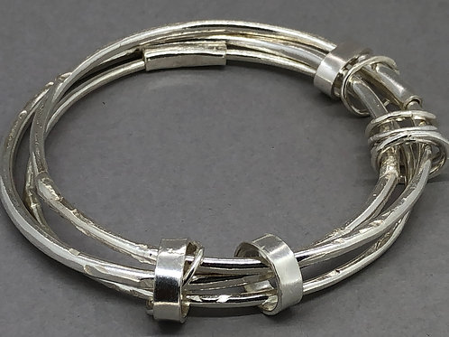 Triple Sterling Silver Bangle