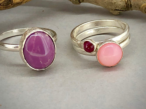 Forest Berry stacking rings.
