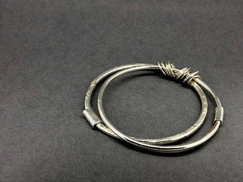 Double Sterling Silver Bangle
