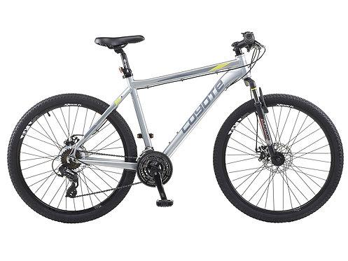 """Coyote Nebraska Gents 19.5"""" Silver Mountain Bike 26"""" Wheel"""