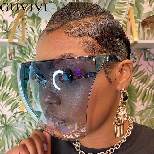 Unisex Face shield Protective Goggles Safety Glasses Anti-Spray Mask