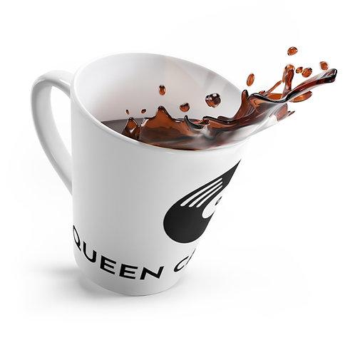 A Queen Can Publish Logo in Black Latte Mug