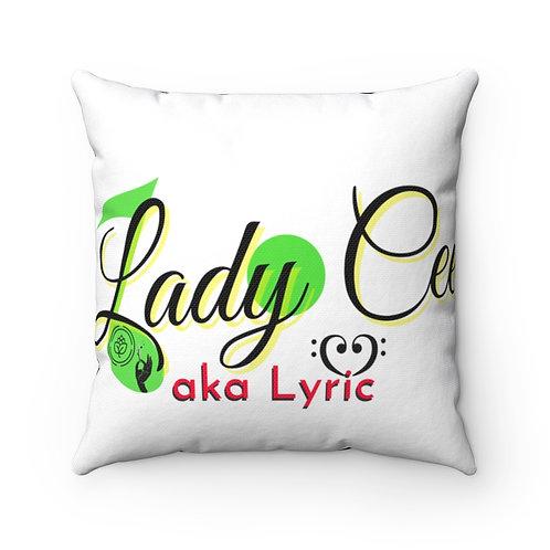 MissMerryJaneChapter420/ LadyCeeLyric Logo in Color Spun Polyester Square Pillow