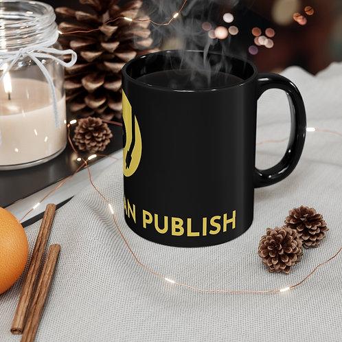 AQCP (B&Gld) Logo Black mug 11oz
