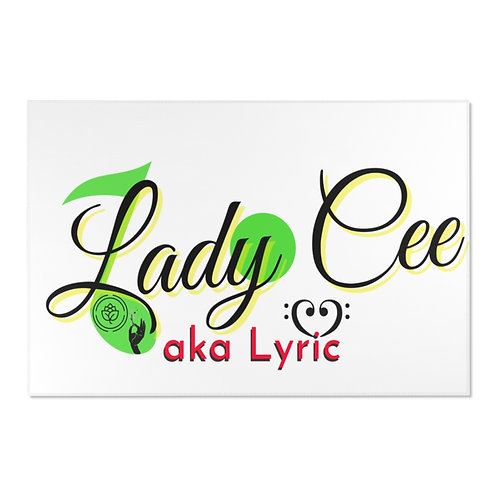 Lady Cee Lyric Logo Area Rugs in Various Sizes