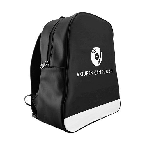 A Queen Can Publish Logo Backpack w/ Padded Laptop Sleeve