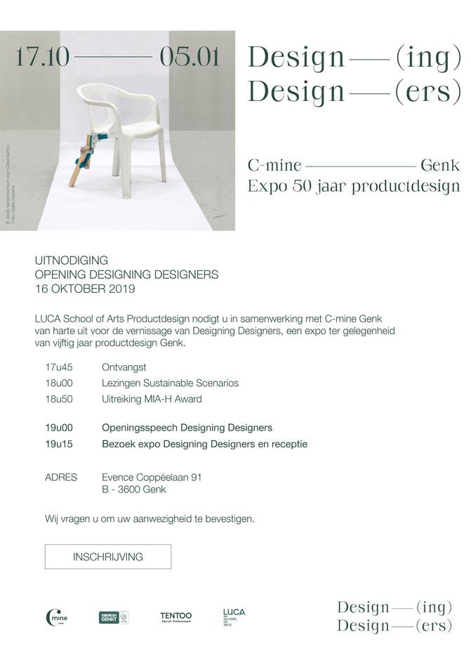 Uitnodiging Designing Designers - 50 jaar Productdesign