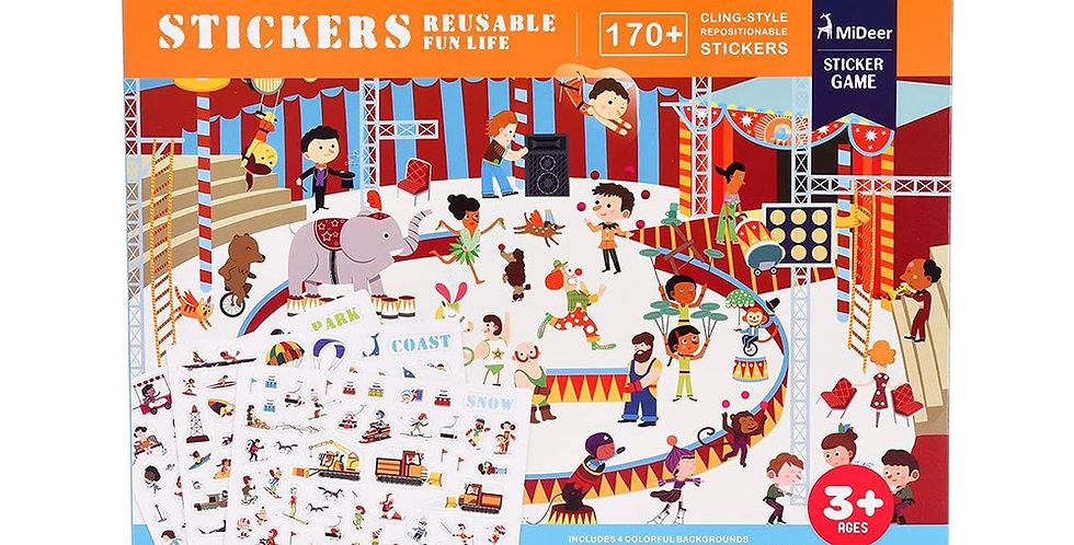 Набор с многоразовыми наклейками «Развлечения»