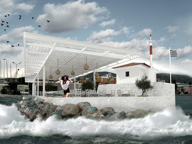 Lighthouse Restoration and new Cafe, Mytilene